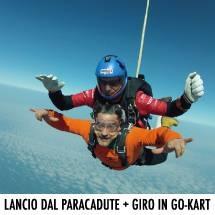 lancio in paracadute più giro gokart riccione rimini